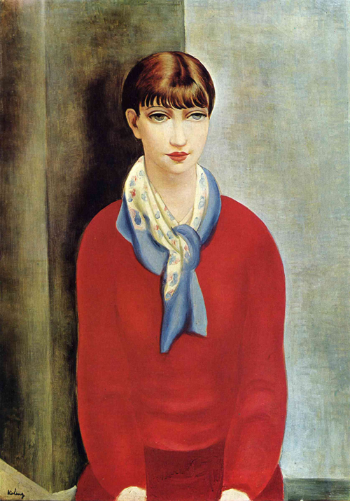 Kiki-de-montparnasse-in-a-red-jumper-and-a-blue-scarf-1925